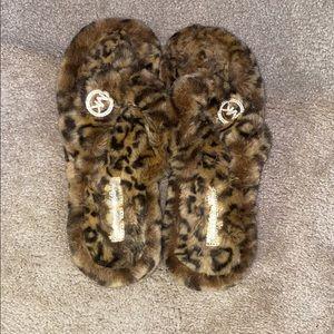 Michael Kors Shoes - Michael Kors Cheetah Print Flip-Flop Slippers
